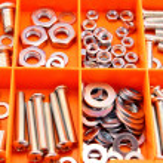 Screws in tool box — Stock Photo #49769173