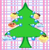 Muffins tree — Stock Photo