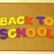 Back to School phrase on a corkboard — Stock Photo #51437619