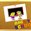 Back to School phrase on a corkboard — Stock Photo #51437793