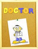 医生的话对软木砖 — 图库照片