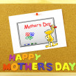 Happy Mother s Day phrase on a corkboard — Stock Photo #51549495