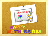 Happy Mother s Day phrase on a corkboard — Stock Photo