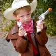 Boy Dressing Up As Cowboy — Stock Photo