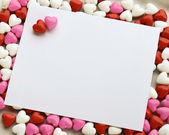 Valentines Candy Note — Stock Photo