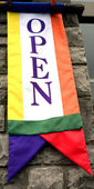 Abierto para la bandera de negocios — Foto de Stock
