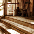 Vintage Front Porch — Stock Photo