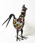 水玉カラフルな金属チキン装飾 — ストック写真