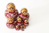 Russian Wooden Doll Grouping — Stock Photo