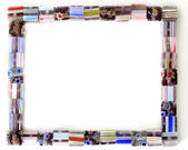 Moldura quadrada colorida do grânulo — Fotografia Stock