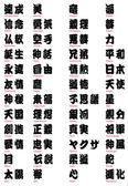 Japanese Kanji and Tattoo words vol.2 — Stock Vector