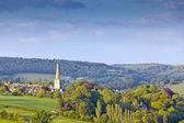 田园诗般的乡村景观,英国科茨沃尔德 — 图库照片