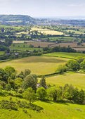 Idilliaco paesaggio rurale, cotswolds uk — Foto Stock