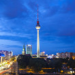 Fernsehturm television tower, Berlin views, Germany — Stock Photo #24822167