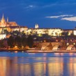 St Vitus Cathedral, Prague Castle and Charles Bridge — Stock Photo