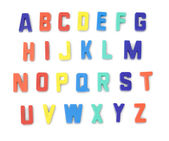 Toy alphabet letters — Stock Photo