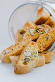 Italian cookies - biscotti — Stock Photo