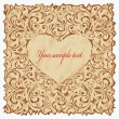 Vintage postcard with heart. — Stock Vector