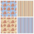 Set of seamless sea vector paper.  — Stock Vector