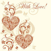 Vintage heart vector background. Vector eps10 illustration. — 图库矢量图片