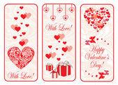 Bannière de Saint-Valentin Journée web définie. — Vecteur