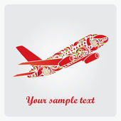 Beautiful airplane. — Stock Vector