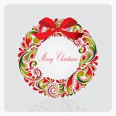 Christmas wreath. — Stock Vector