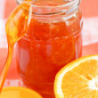Stock Photo: Orange homemade jam.