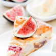 Cake with figs and bananas — Stock Photo