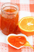 Orange homemade jam. — Stock Photo