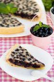 Blueberry and almond tarte. — Stock Photo