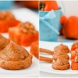 Set persimmon cookies with nuts and cinnamon. — Stock Photo