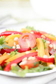 Salad with vegetables and greens. — Stock Photo