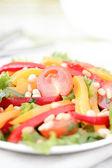 与蔬菜和蔬菜沙拉. — 图库照片