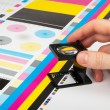 Prepress color management in print production - Foto Stock