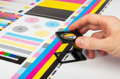 Prepress color management in print production — Stock Photo