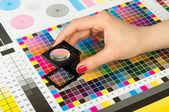 Administración de color en la producción de la impresión — Foto de Stock
