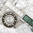 Measurement of diameter of bearing — Stock Photo #21304635