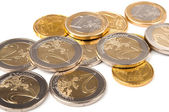 Euro coins isolated — Stock Photo