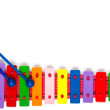 Stock Photo: Toy xylophone on white