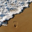 Royalty-Free Stock Photo: Footprint in the Sand