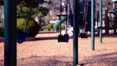 Swings for children — Stock Video