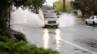 City flood — Stock Video
