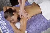Spa. Stone Massage — Stock Photo