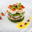Постер, плакат: Salad with seafood