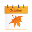 Vector calendar october — Stock Vector