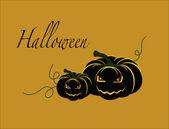 Fondo de calabaza de halloween — Vector de stock