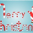 Christmas cute baby card with santclaus — ストックベクター #34075417