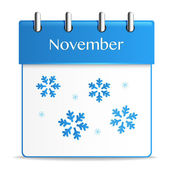 November calendar — Stock Vector