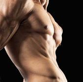 Half naked sexy body — Stock Photo